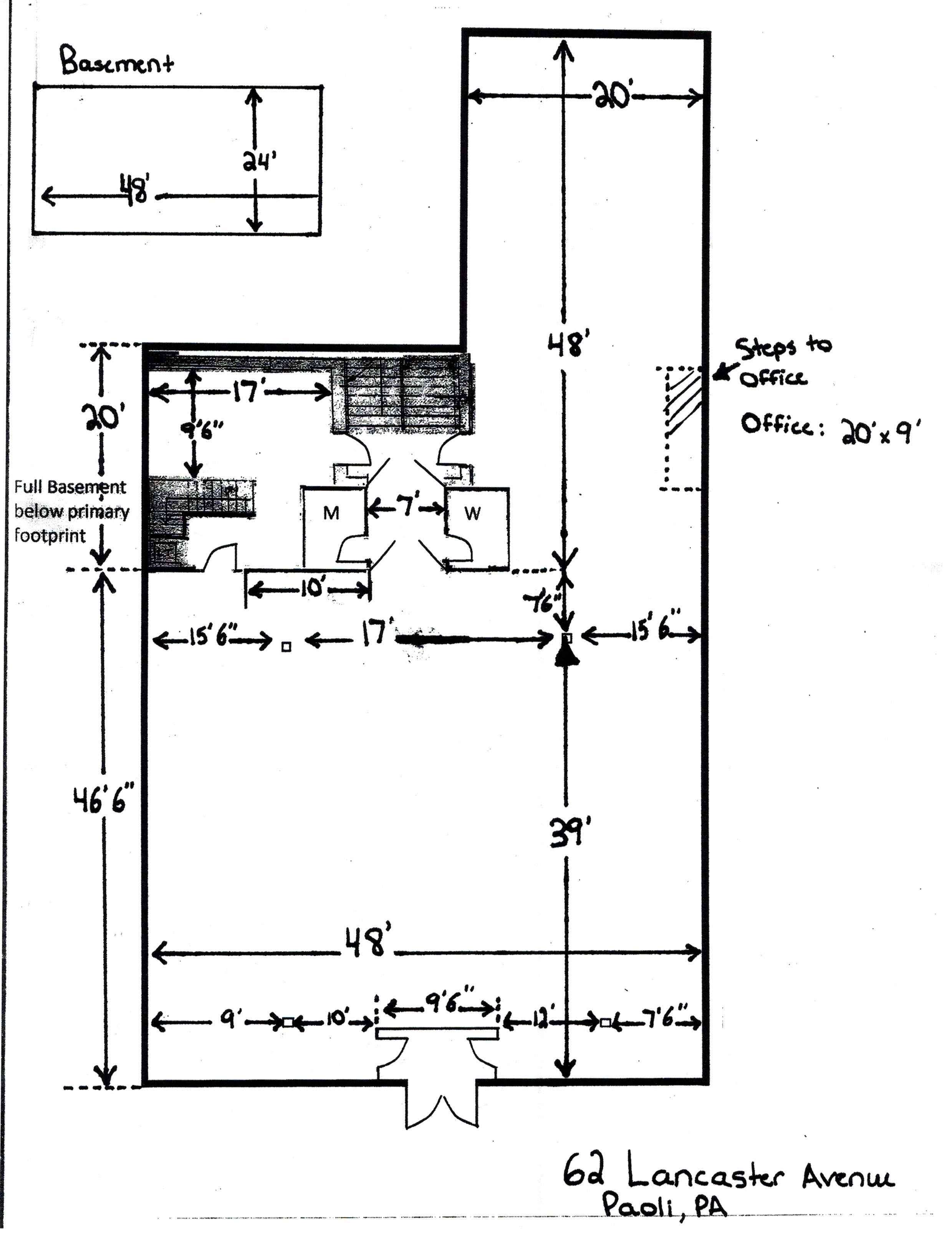 62 E. Lancaster Avenue Floor Plan