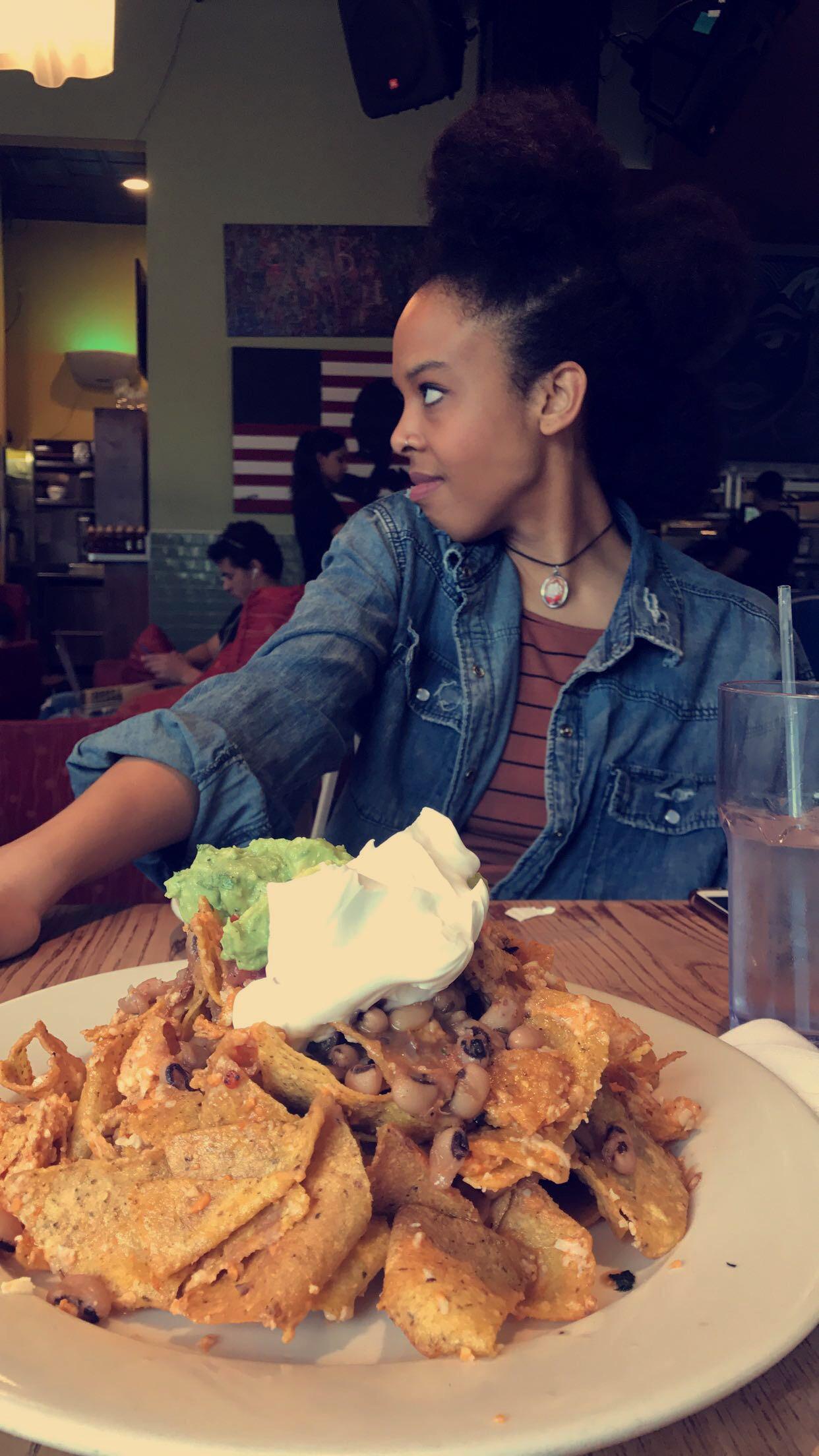 * vegan nachos at Busboys and Poets restaurant in Washington, D.C.