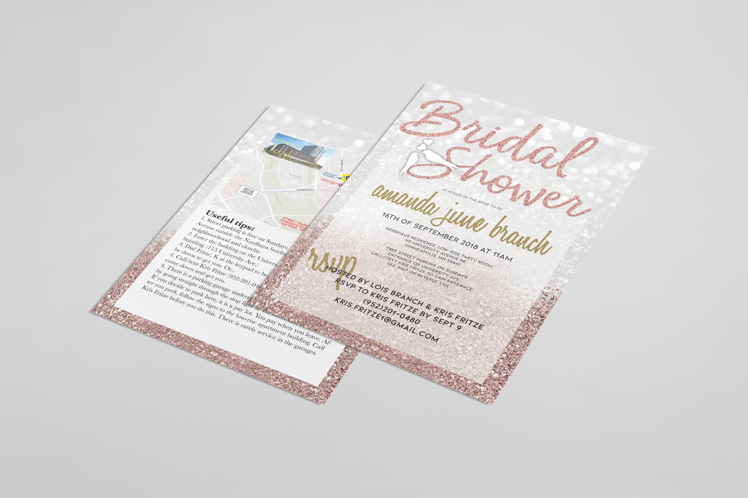 INVITATION DESIGN - BRIDAL SHOWER