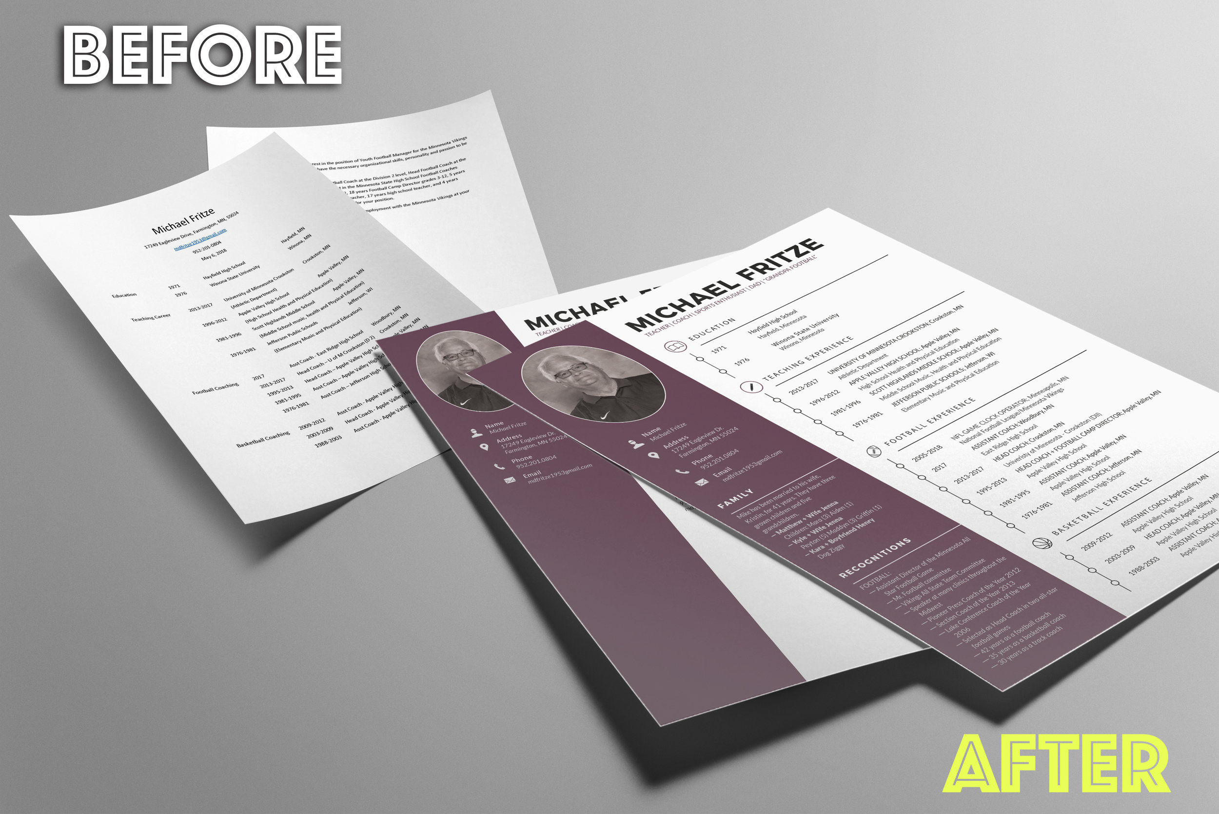 Wednesday MediaMike Fritze Resume mockup BEFORE AND AFTER.jpg