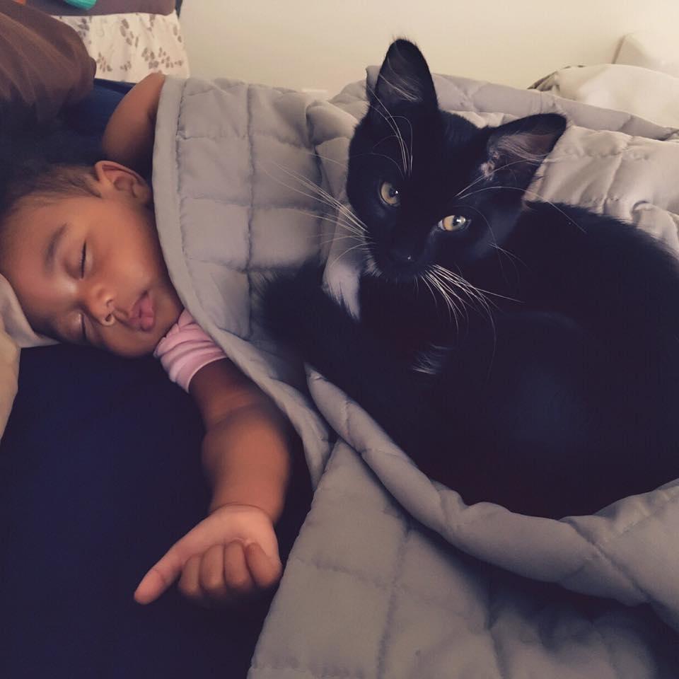 Cuddles with Gigi.