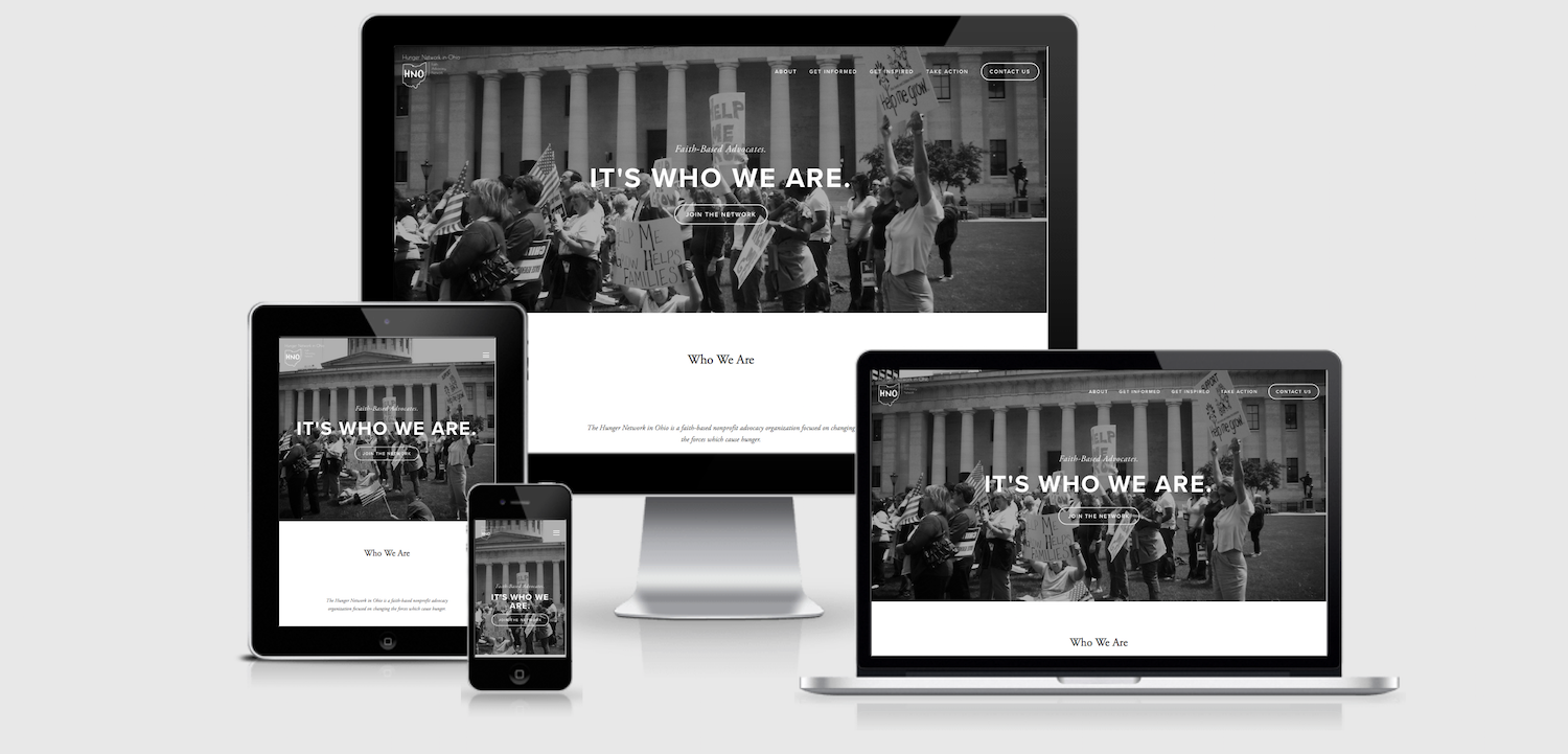 The HNO website is designed to view well on multiple devices.