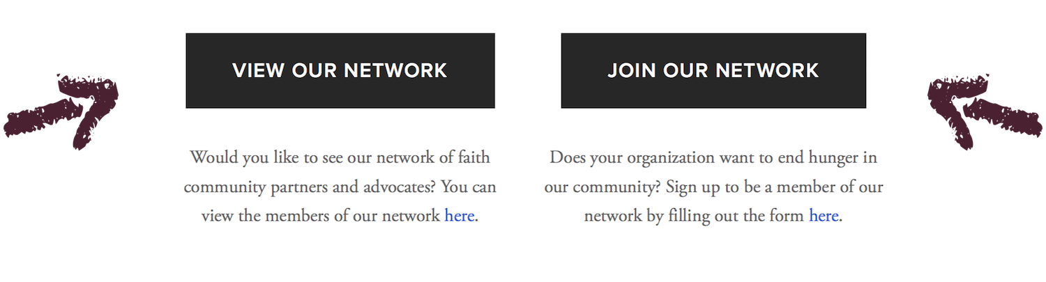 The HNO Network page allows individuals and organizations to view or join our network.