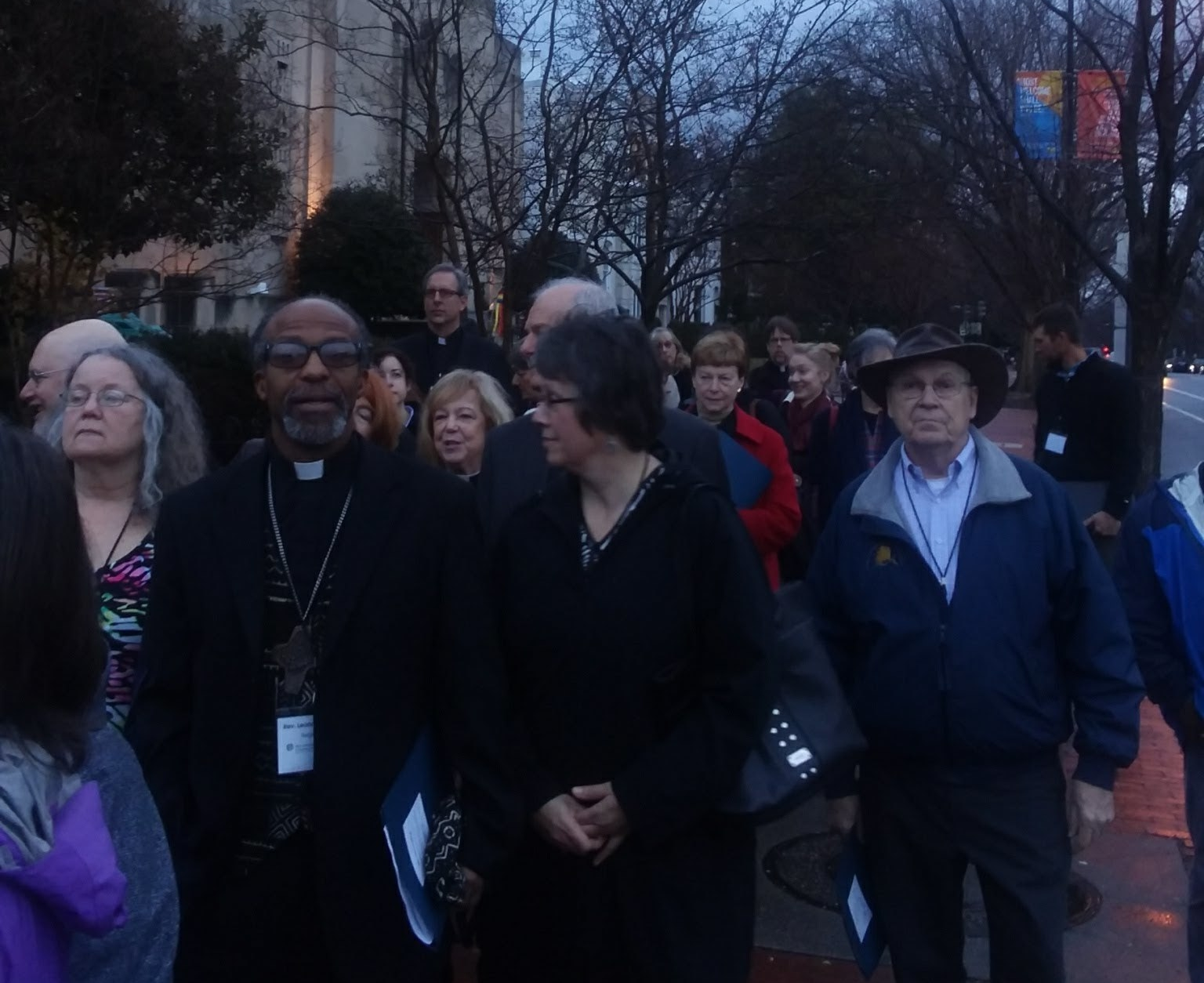 Lutheran hunger leaders march to the Capitol to begin their advocacy day on the Farm Bill.