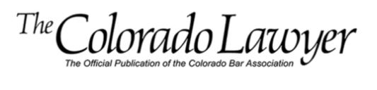 Official Publication of the Colorado Bar Association, November 2016.