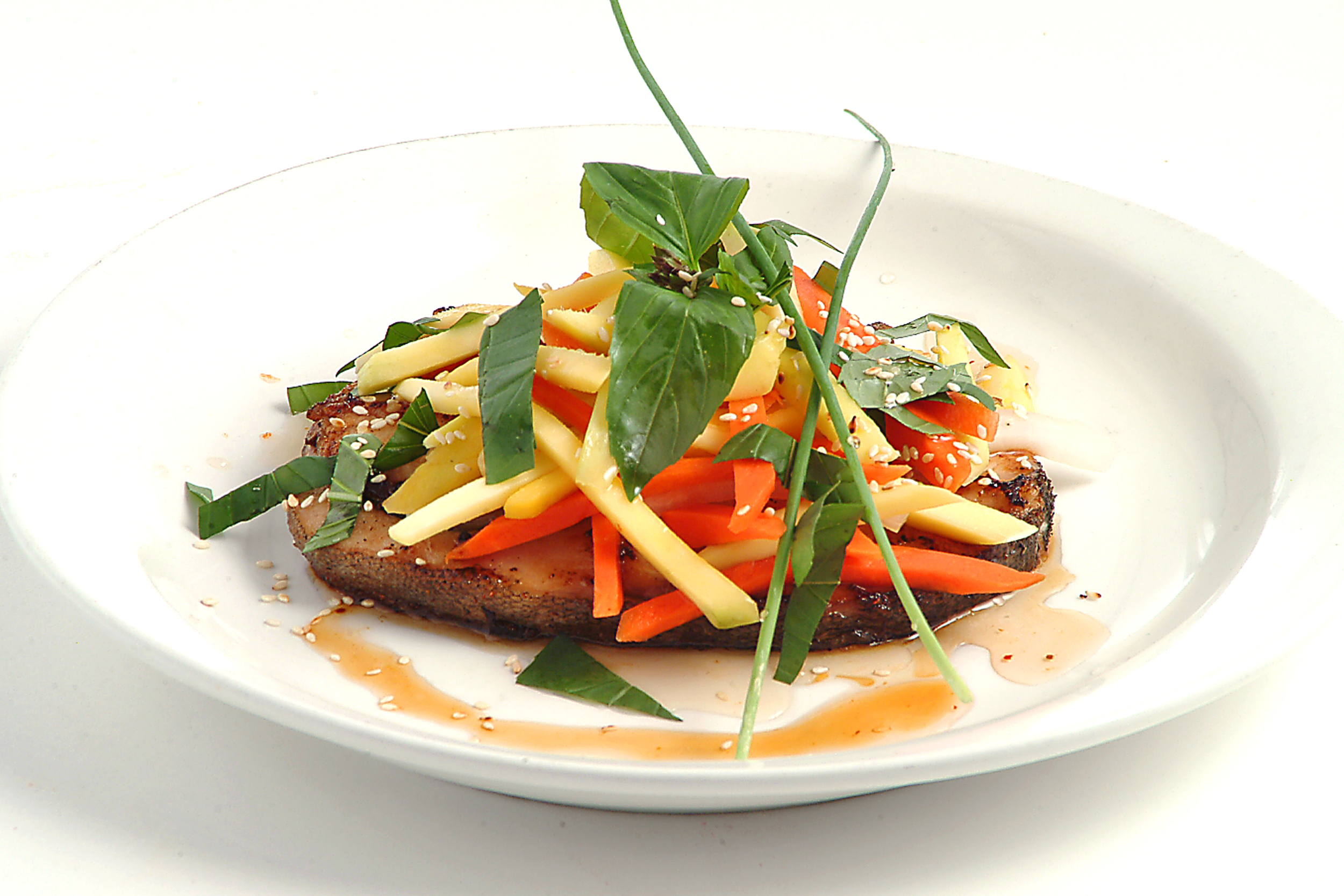 Mango Salad with Grilled Cod