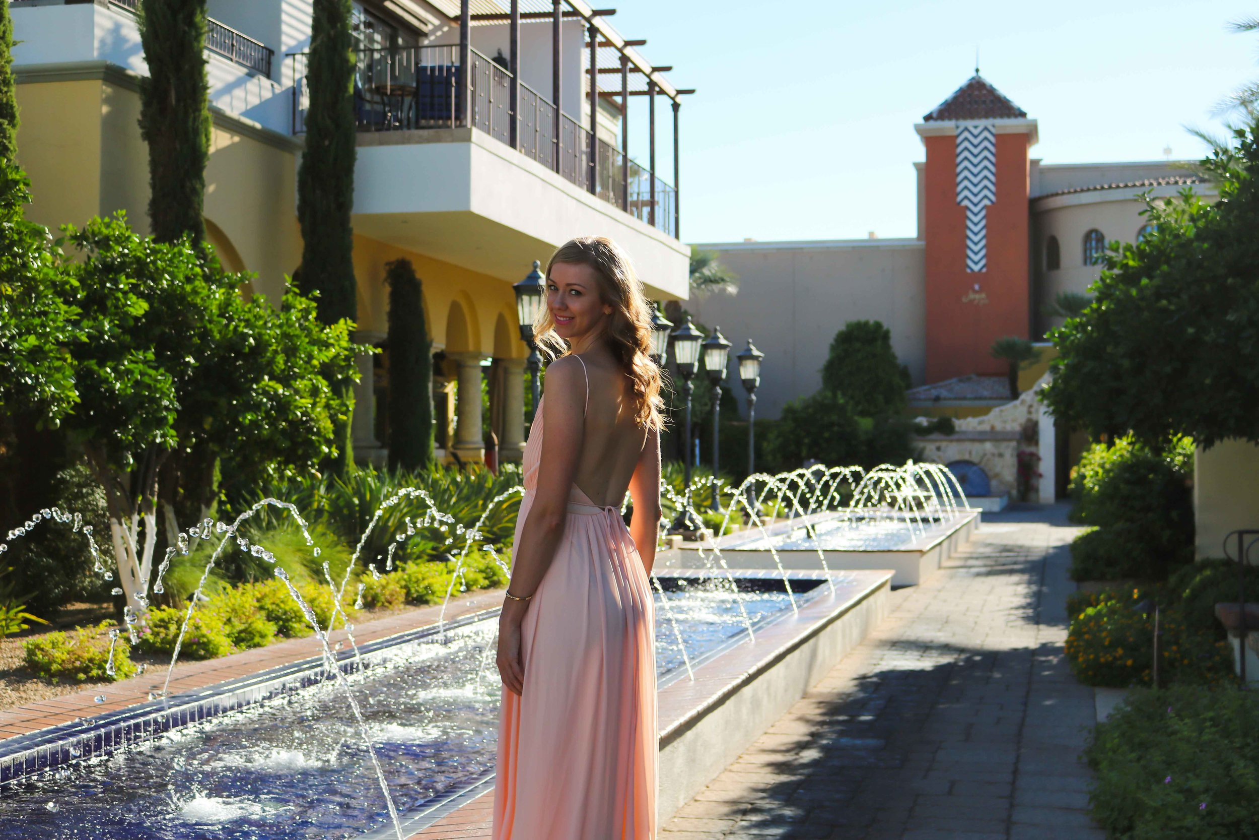 MIsguided-Pink-Floor-Length-Dress