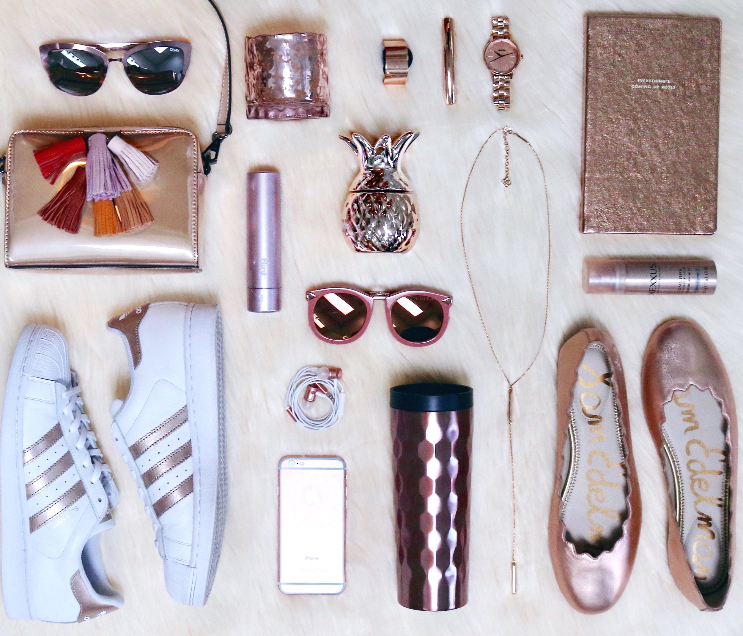 rose-gold-sunglasses-purse-adidas-sneakers-notebook-shoes.jpg