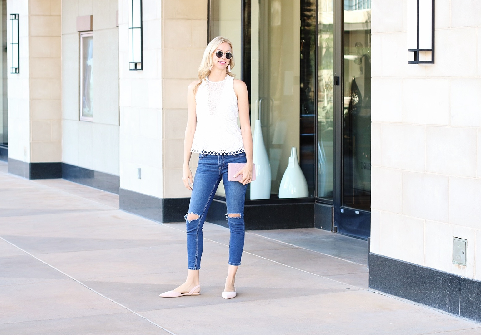 top-shop-white-lace-peplum-top-pink-suede-slingback-flats-rippd-jeans.jpg