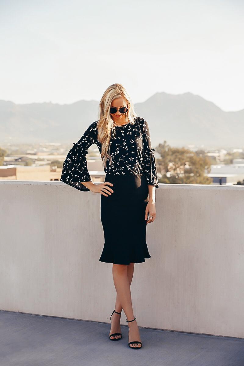 cece-black-pencil-skirt-bell-sleeve-top.jpg