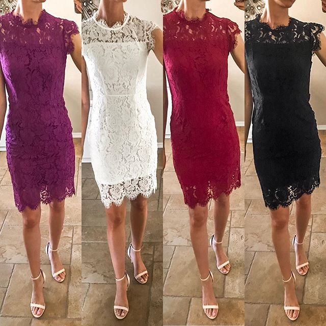 Which color do you like?✨ One of my best selling dresses of all time. So flattering, under $40, comes in 8 colors, and fits TTS. It's linked in my bio along with these heels and my go-to shapewear (which I wear under all form-fitting dresses). You can also follow me in the LTK It app to shop my looks. 😘