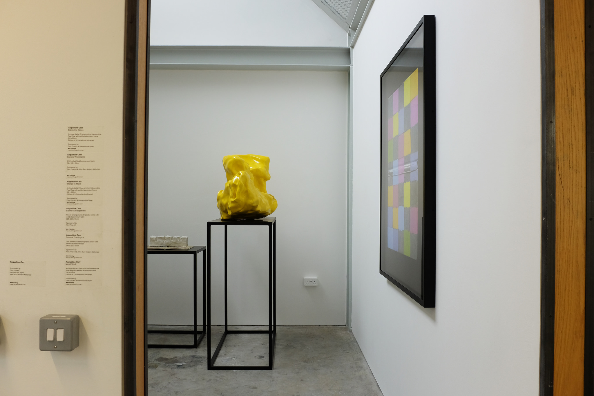 Works installed at the Royal College of Art Show, 2016