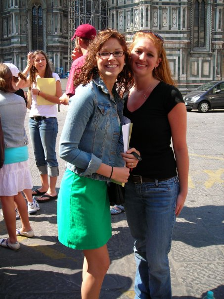 Kalee and our first day in Italy in front of the Baptistery of San Giovanni