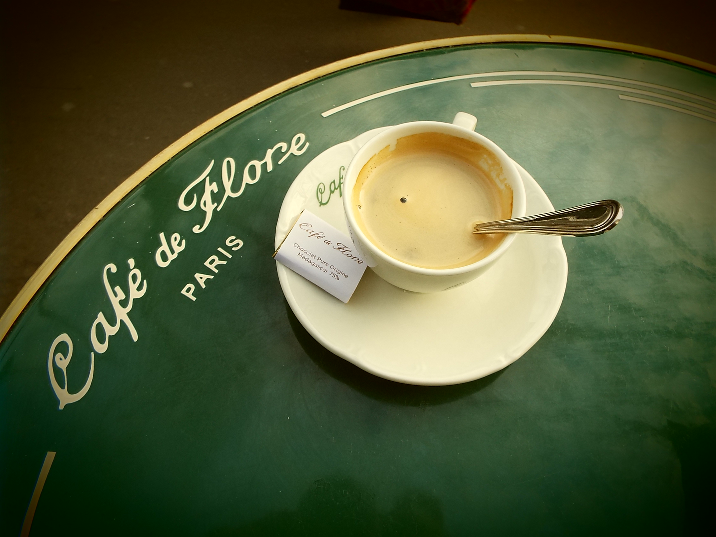 Cappuccino at the famous Cafe de Flore