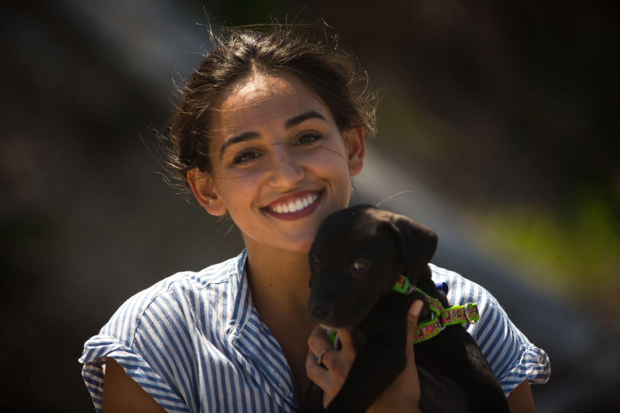 Jordan and her dog, AndiE