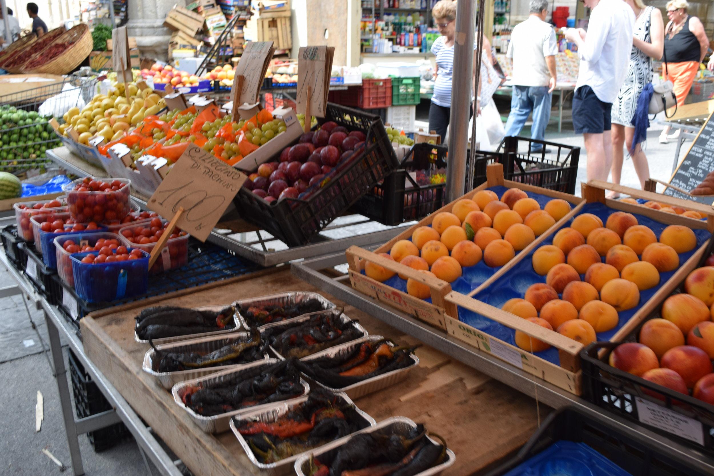 A stall in the Ortigia market