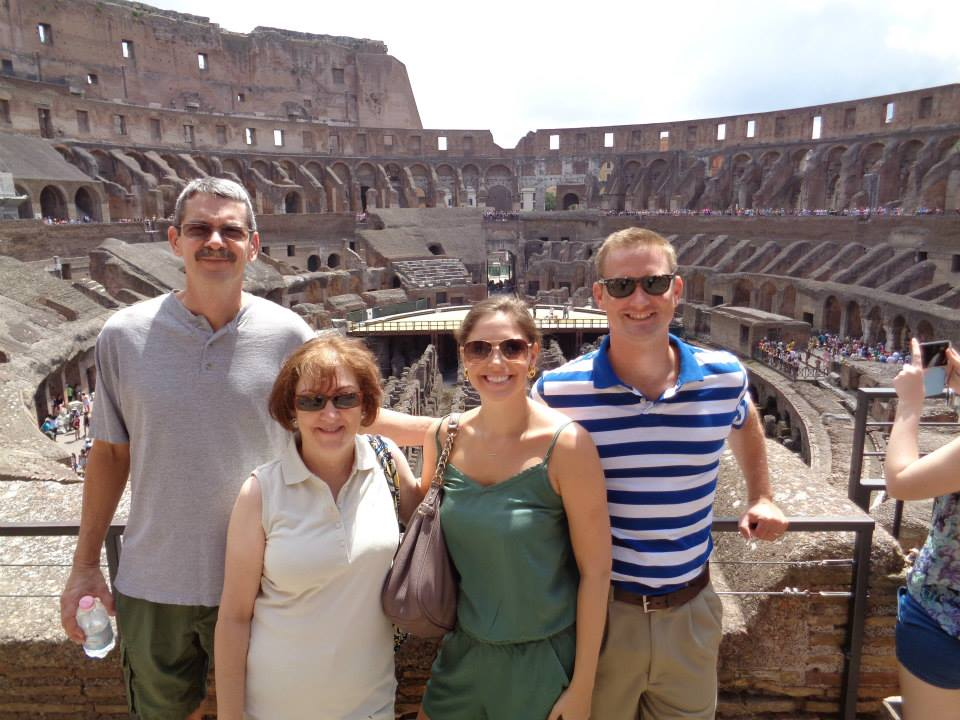 A family photo snapped by our tour guide in Italy