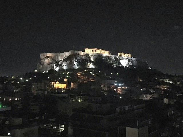 The view from our Athens hotel