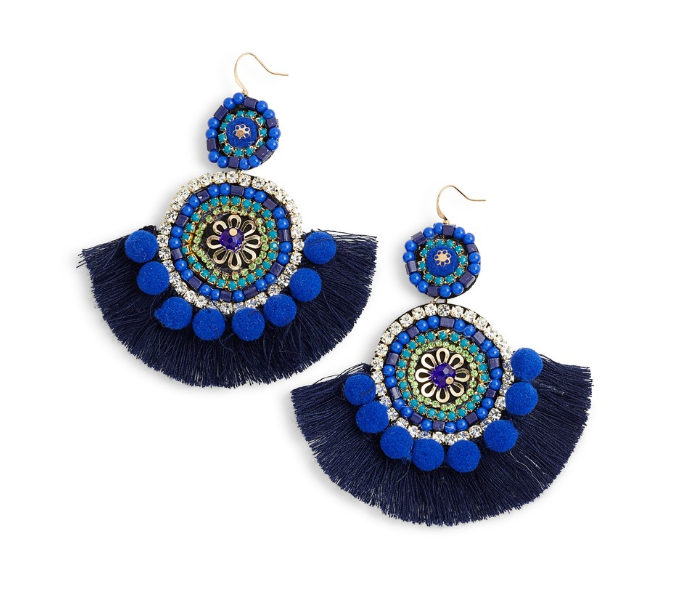 Bohemian Beaded Statement Earrings