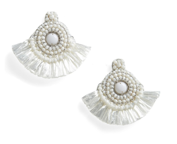 Rafa Circle Bead Tassel Earrings