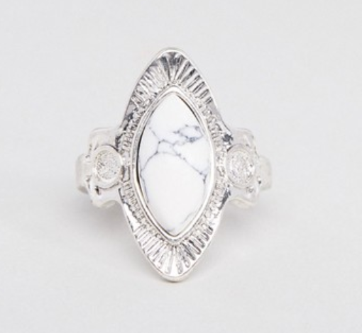 Faux Marble Engraved Ring $9.50