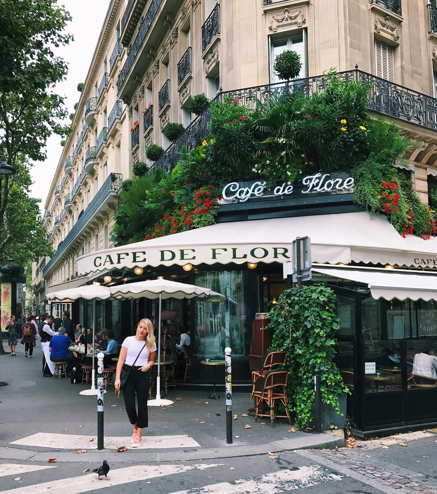 Straight off the plane to Cafe De Flore for coffee & croissants
