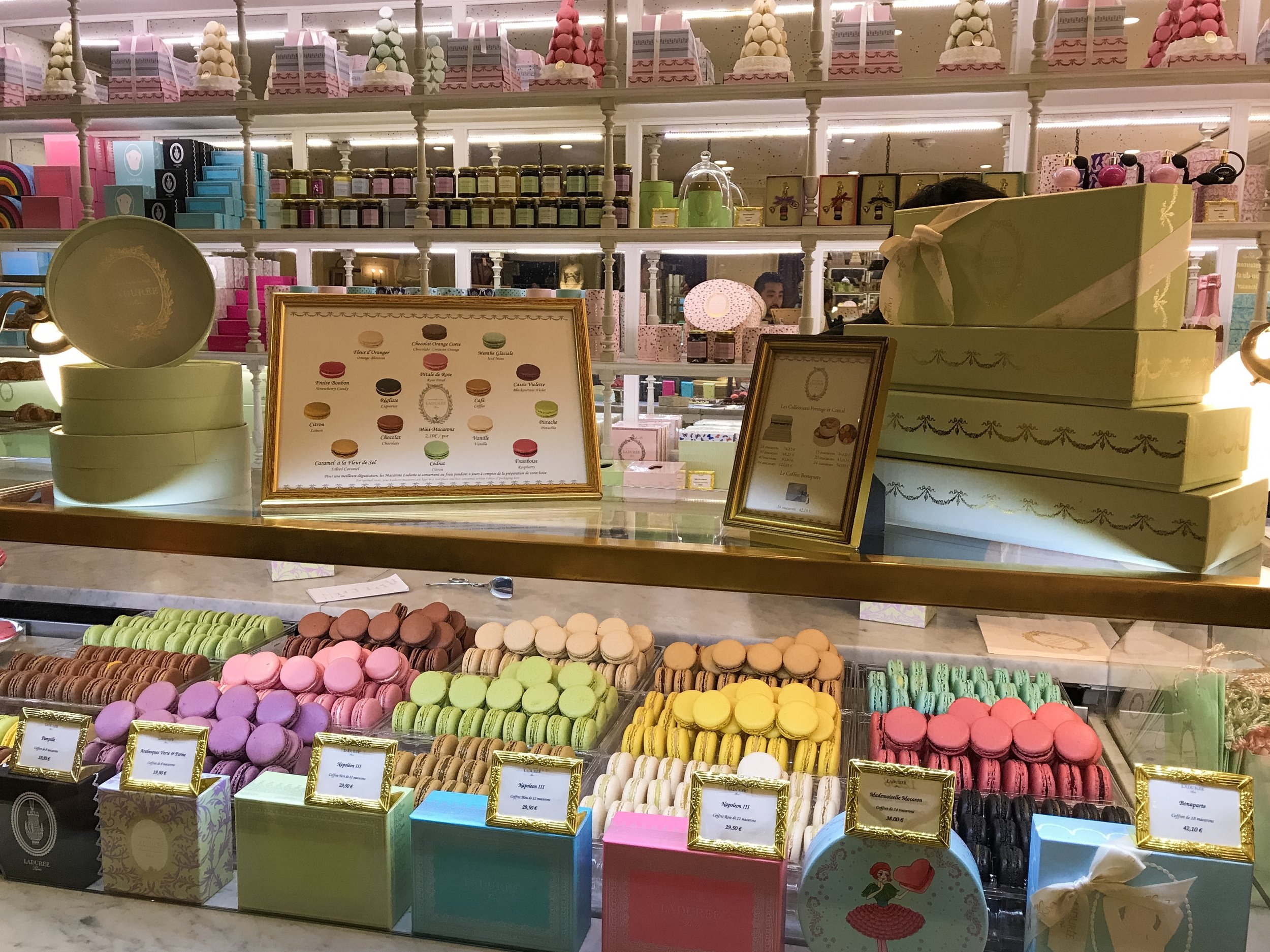 Ladurée inside of Galeries Lafeyette... my favorite dessert, macaroons