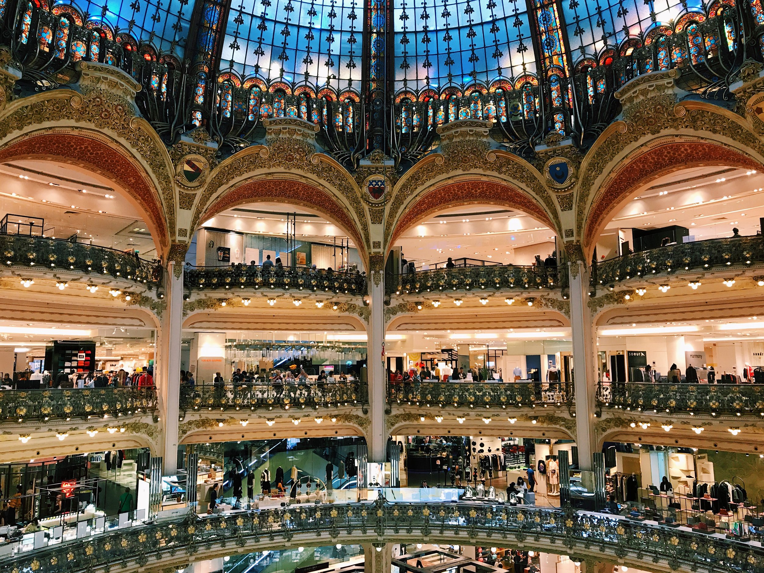 The most amazing mall I've ever been in... Galeries Lafayette