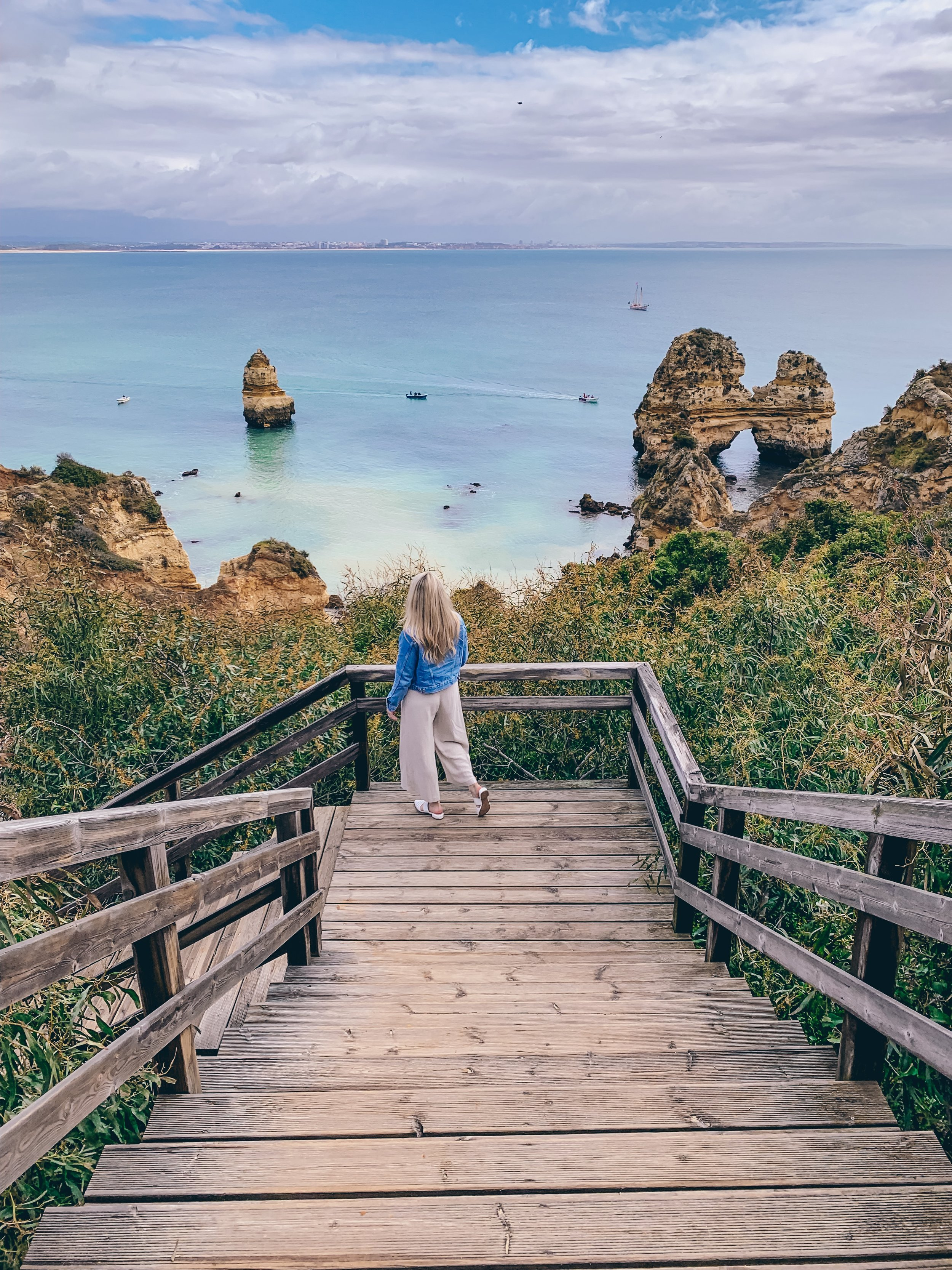 150 steps down to Praia do Camilo in Lagos