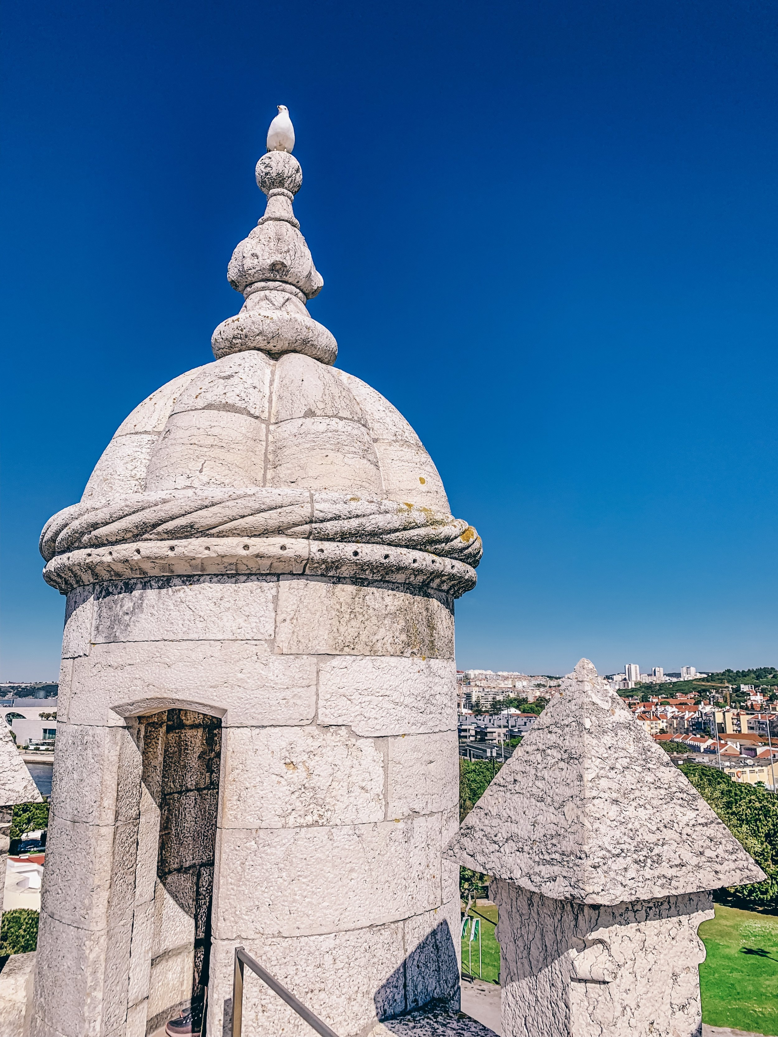At the top of Belem Tower