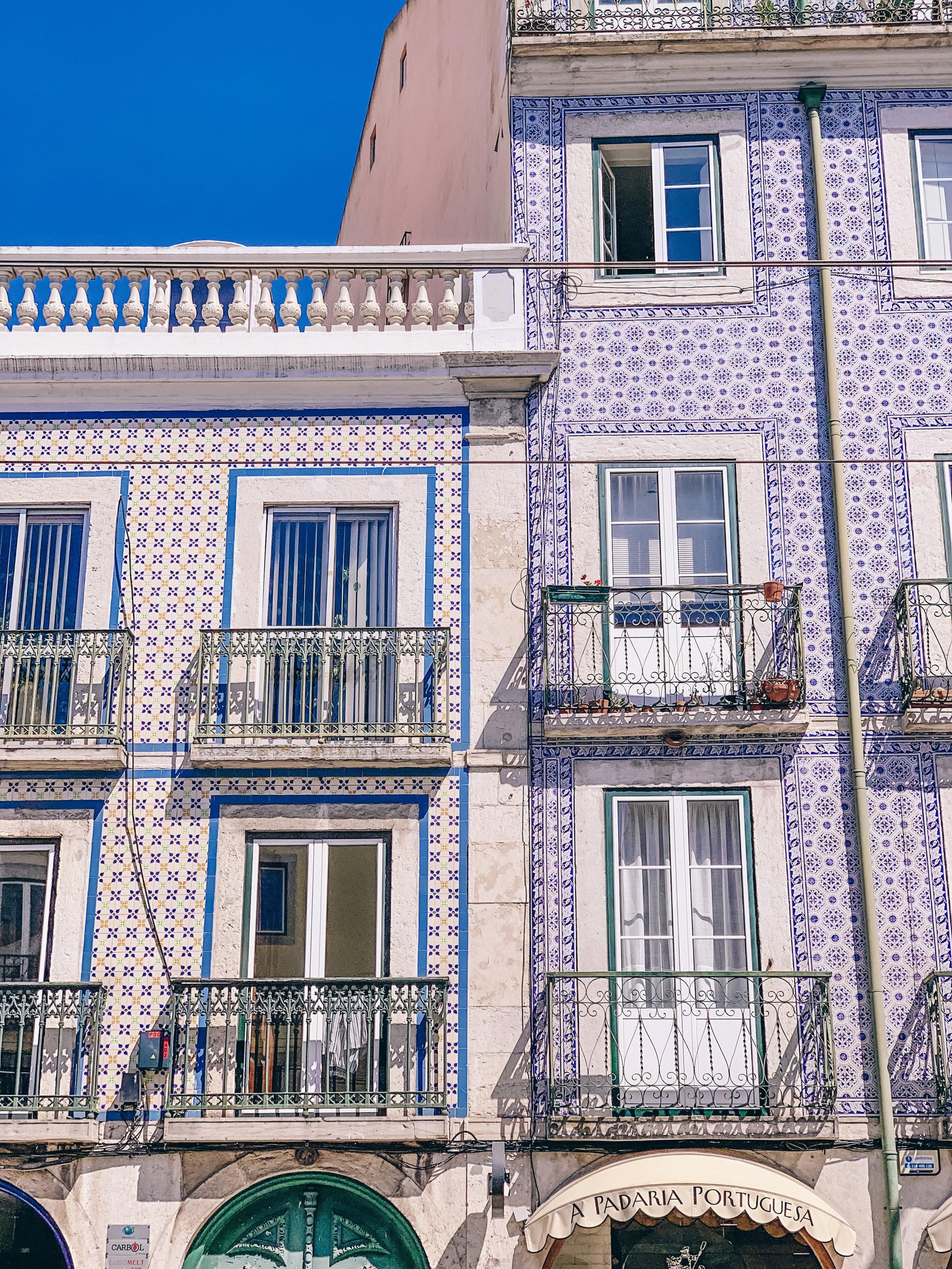 Colorful buildings of Lisbon