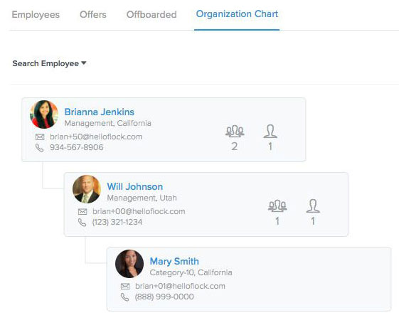 """How to Set This Up:   HR Administrators/Brokers will need to be in Settings-> Security/Permissions and look in the Employee Permissions section. Simply click on the checkbox, """"Organization Chart"""" and click on """"Update""""."""