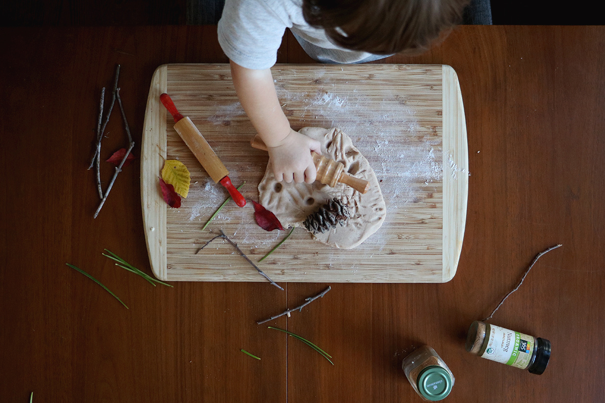 cinnamon nutmeg homemade playdough | root + dwell