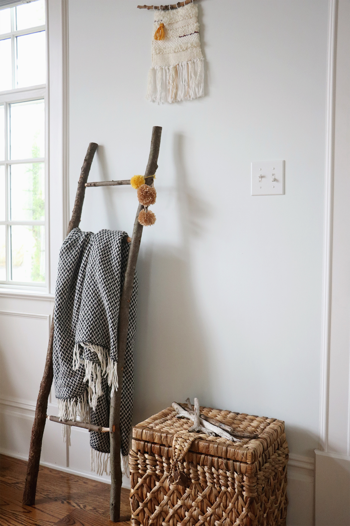 DIY Decorative Ladder From Foraged Branches | root + dwell