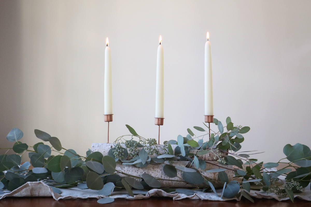 DIY winter table centerpiece | root + dwell