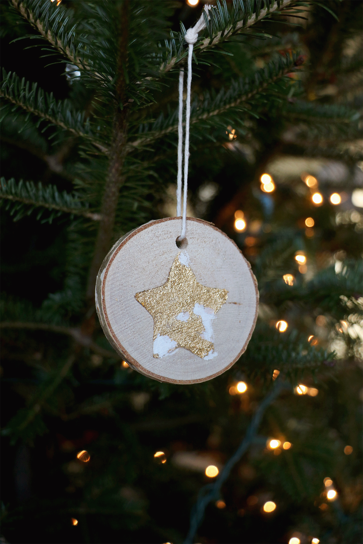 wood round ornaments | a festive craft for kids and adults | root + dwell