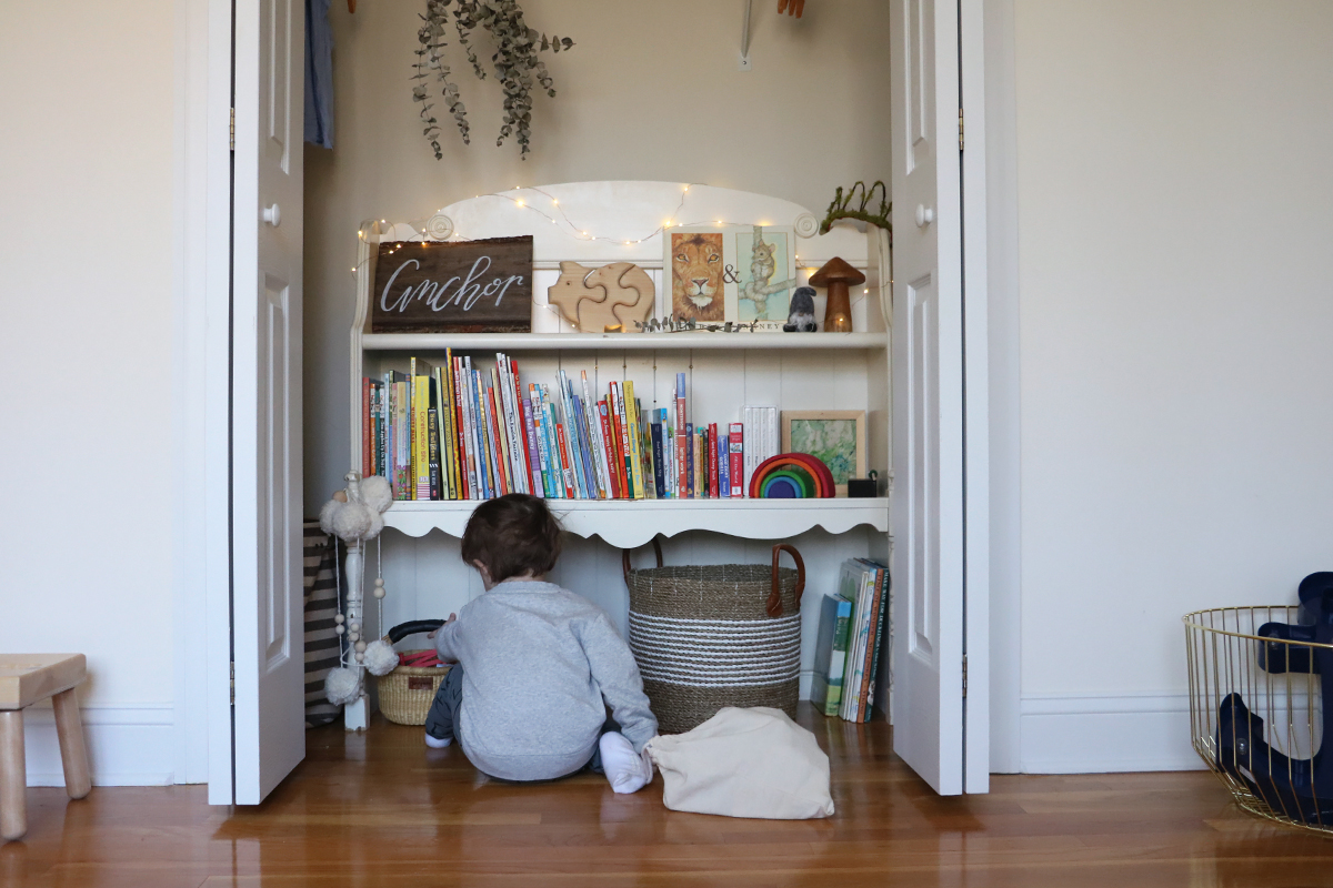 charming kid's closet storage   root + dwell
