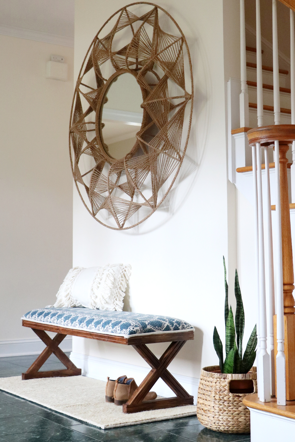 earthy eclectic entryway decor | root + dwell