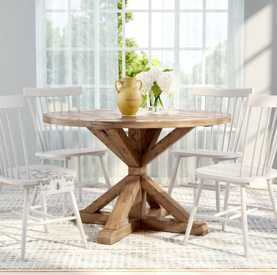 Round Rustic Dining Table