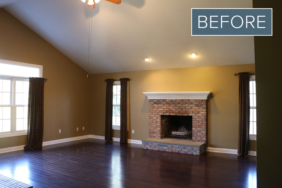 BEFORE Our Family Room Makeover Reveal | Modern, Casual + Fun