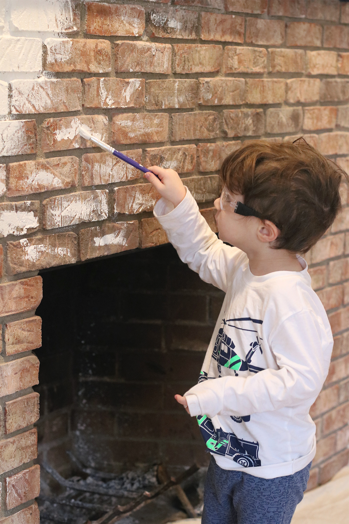 our fireplace makeover | root + dwell