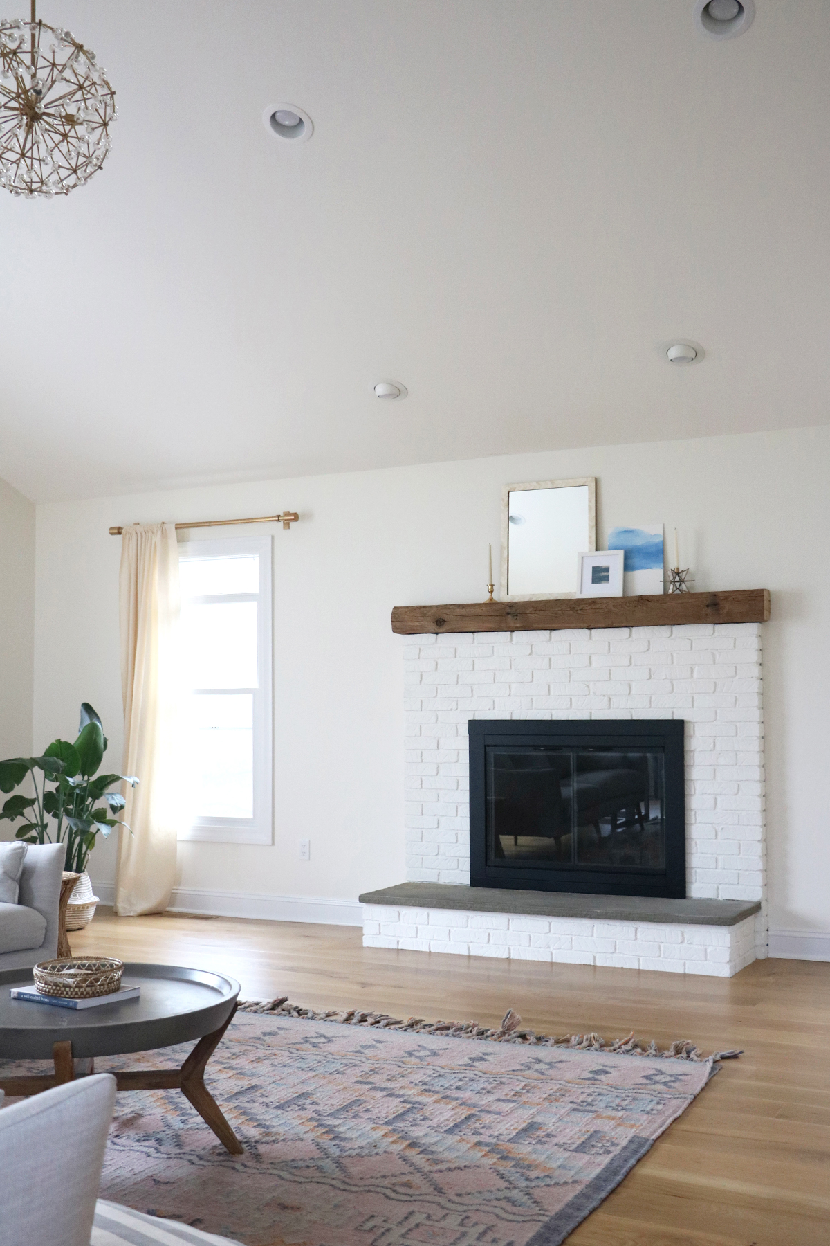 fireplace makeover | root + dwell