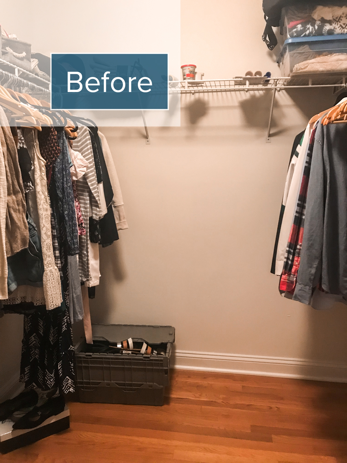 BEFORE | Master Bedroom Closet | Small Changes For a Big Change | root + dwell