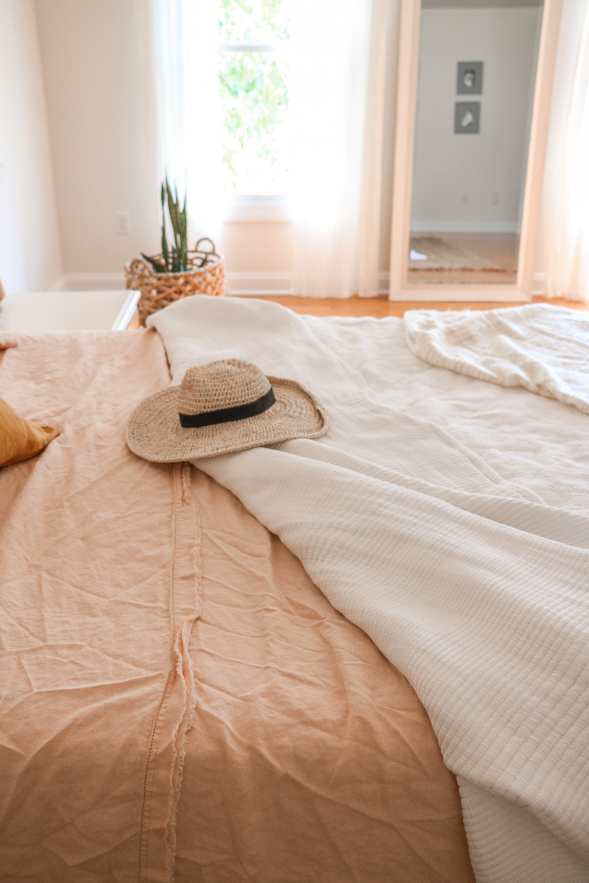 "New Summer Bedding + Tips For Getting That Perfect ""Undone"" Look 