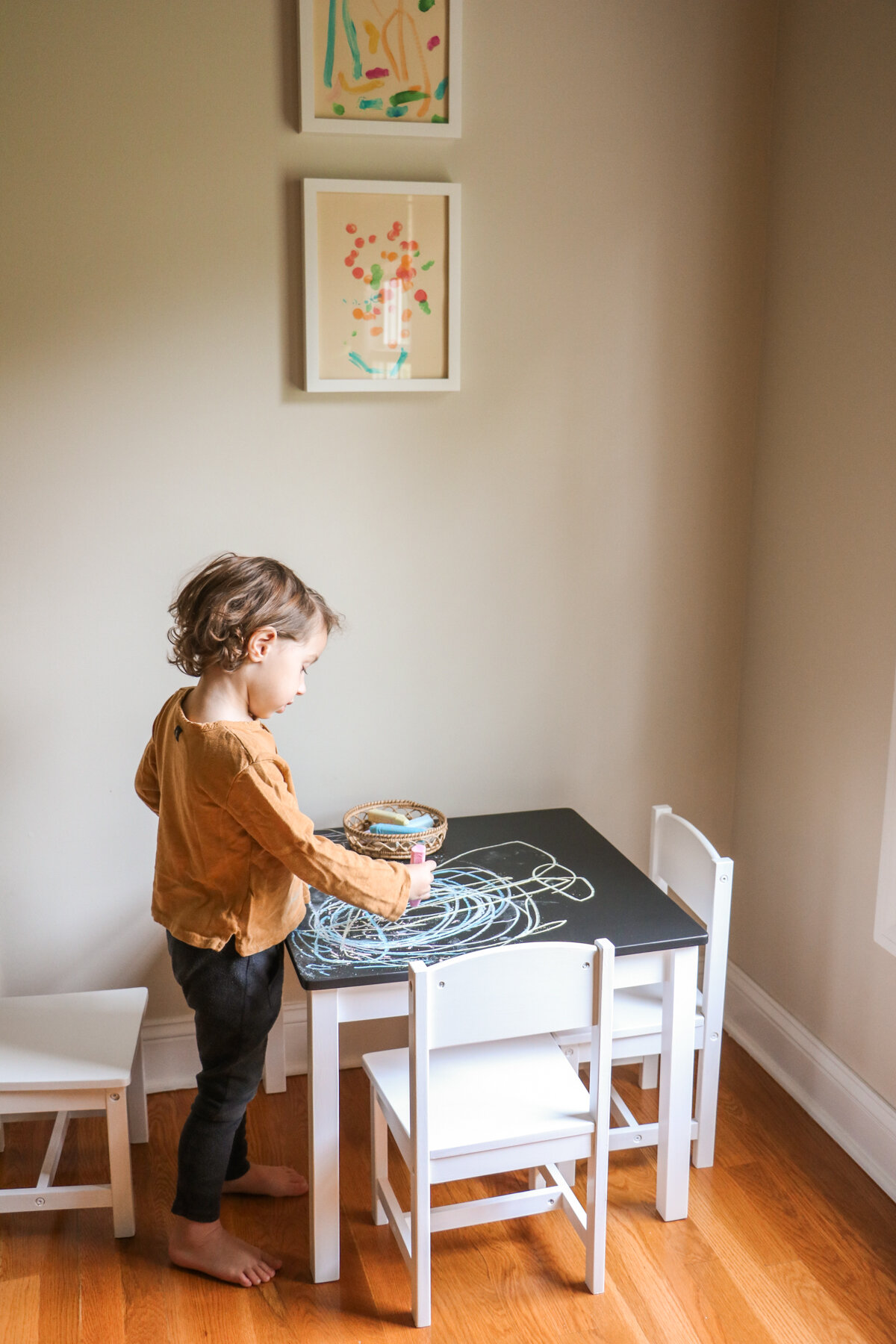 DIY Kids Art Table Makeover | Chalkboard Top | root + dwell