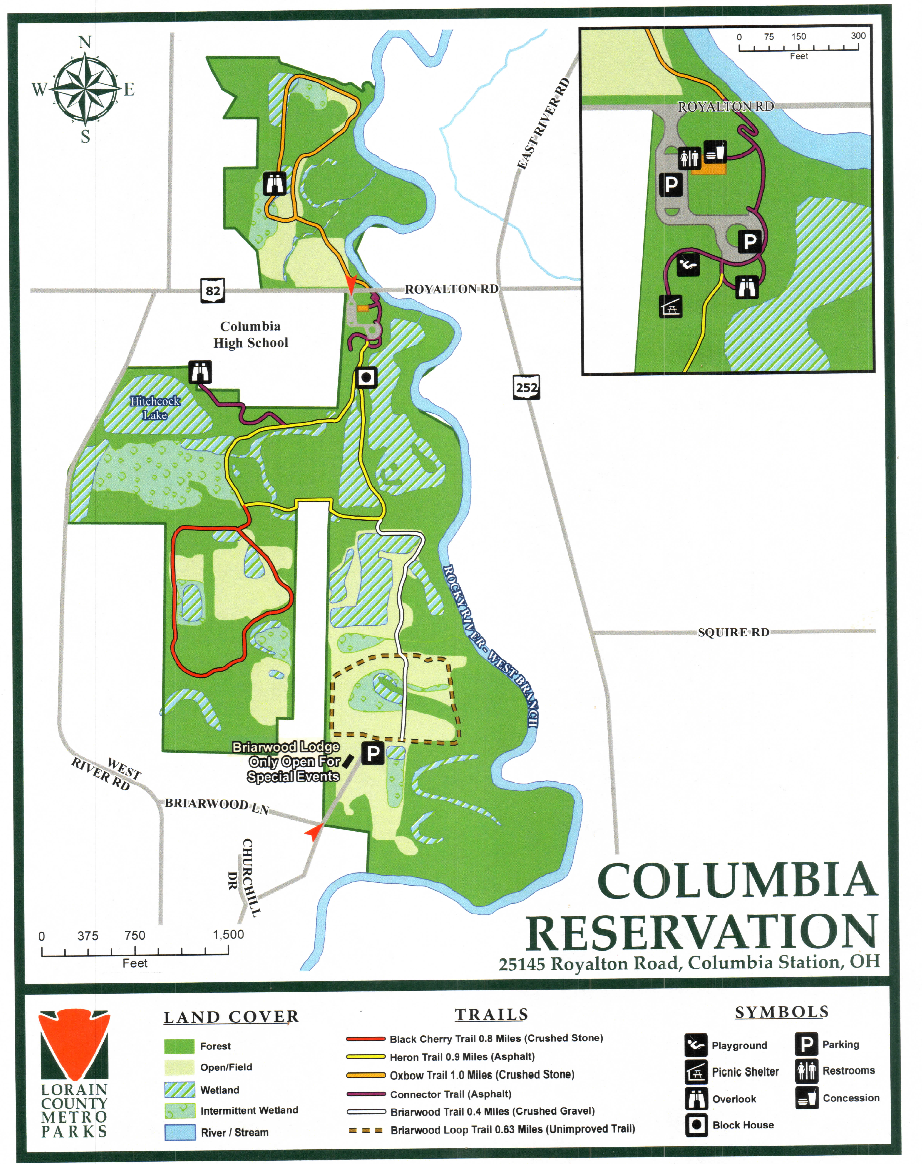 For some reason the map locator in the link is showing an inaccurate location for Briarwood Lodge. It is showing it near the intersection of West River Road and Briarwood Lane, but it is actually further east on Briarwood Lane to almost where the road makes a hard right. Please see the attached park map. There is a small sign at the entrance.