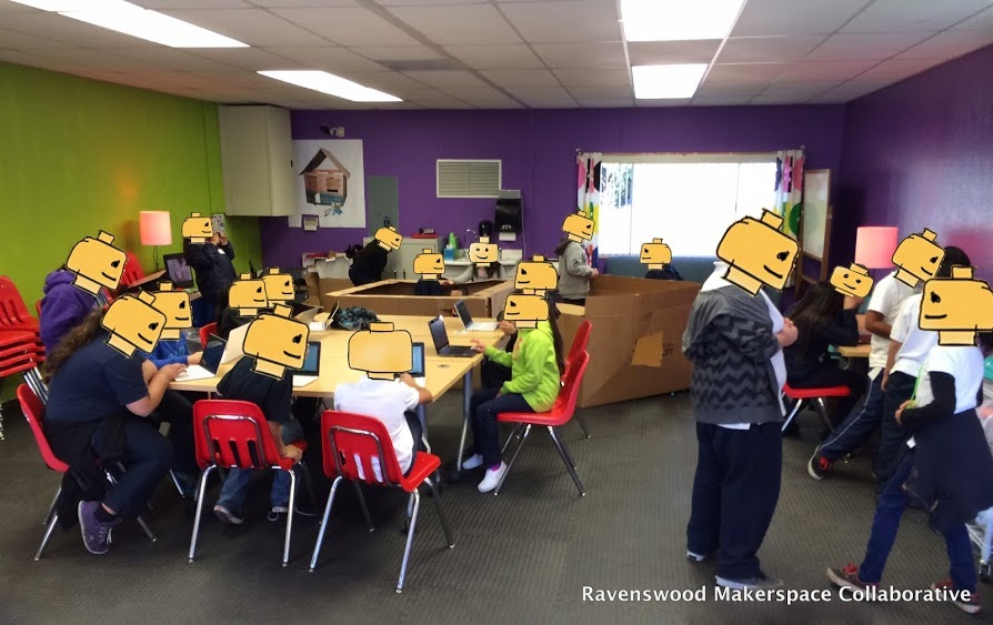 Students in action in Ravenswood - January 2014