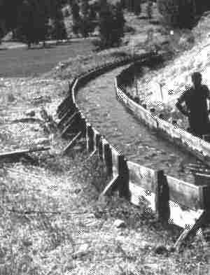 Wooden Flume Used in the Irrigation System