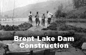 Brent Lake Dam Construction