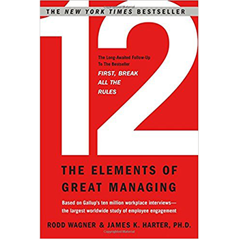 Based on the stories of 12 managers selected from Gallup's global database of 10 million interviews with managers and employees, Wagner and Harter reveal the 12 key elements of what makes a great manager and, in turn, what makes a great workplace.   Learn more here